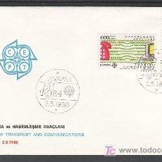 Sellos: TURQUIA 2557/8 PRIMER DIA, TEMA EUROPA 1988, TRANSPORTE Y TELECOMUNICACIONES, . Lote 10815669