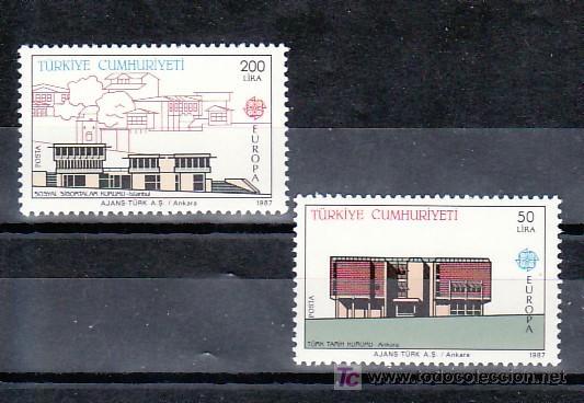 TURQUIA 2533/4 SIN CHARNELA, TEMA EUROPA 1987, ARQUITECTURA MODERNA, (Sellos - Extranjero - Europa - Turquía)