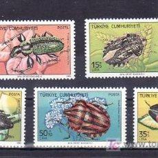Sellos: TURQUIA 2410/4 SIN CHARNELA, FAUNA, INSECTOS DAÑINOS, . Lote 10016082