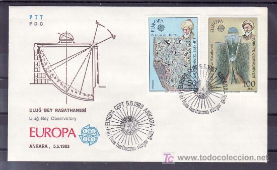 TURQUIA 2389/90 PRIMER DIA, TEMA EUROPA 1983, GRANDES OBRAS DE LA HUMANIDAD, (Sellos - Extranjero - Europa - Turquía)