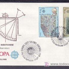 Sellos: TURQUIA 2389/90 PRIMER DIA, TEMA EUROPA 1983, GRANDES OBRAS DE LA HUMANIDAD,. Lote 10815673