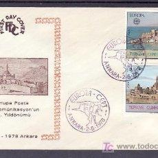Sellos: TURQUIA 2213/4 PRIMER DIA, TEMA EUROPA 1978, MONUMENTOS,. Lote 10815679