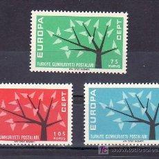 Sellos: TURQUIA 1627/9 SIN CHARNELA, TEMA EUROPA 1962, . Lote 10026400