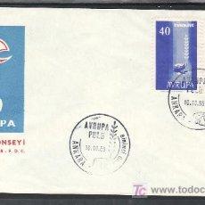 Sellos: TURQUIA 1412/3 PRIMER DIA, TEMA EUROPA 1958, . Lote 10026738