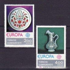 Sellos: TURQUIA 2155/6 SIN CHARNELA, TEMA EUROPA 1976, ARTESANIA, PORCELANA, . Lote 10829618