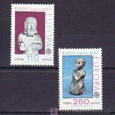 Sellos: TURQUIA 2089/90 SIN CHARNELA, TEMA EUROPA 1974, ARTE, ESCULTURAS, . Lote 10829620