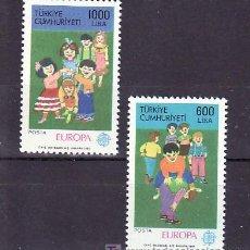 Sellos: TURQUIA 2602/3 SIN CHARNELA, TEMA EUROPA 1989, JUEGOS INFANTILES, . Lote 11364882