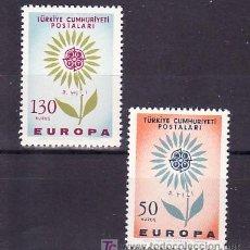 Sellos: TURQUIA 1697/8 SIN CHARNELA, TEMA EUROPA 1964, . Lote 10544650