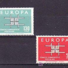 Sellos: TURQUIA 1672/3 SIN CHARNELA, TEMA EUROPA 1963, . Lote 10544657