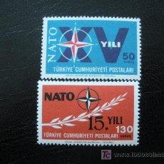 Sellos: TURQUIA 1964 IVERT 1686/87 *** XV ANIVERSARIO ORGANIZACIÓN TRATADO ATALNTICO - O.T.A.N.. Lote 12264048