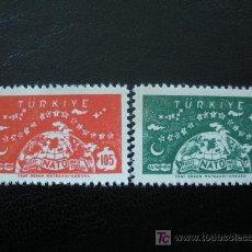 Sellos: TURQUIA 1959 IVERT 1423/24 *** 10 ANIVERSARIO DE LA O.T.A.N.. Lote 12264255