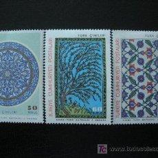 Sellos: TURQUIA 1966 IVERT 1774/76 *** . Lote 12598592