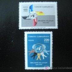 Sellos: TURQUIA 1970 IVERT 1968/9 *** 25 ANIVERSARIO DE LA O.N.U.. Lote 12878854