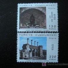Sellos: TURQUIA 1967 IVERT 1841/2 *** VISITA DEL PAPA PABLO VI A EFESO. Lote 41652955