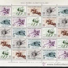 Sellos: TURQUIA TEMA OLIMPIADAS PRECIOSO Y RARO PLIEGO EN BLOQUE NUEVA Nº 10. Lote 15948427