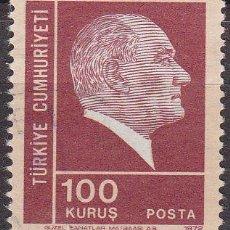 Sellos: TURQUIA 1973 SCOTT 1923 SELLO FUNDADOR Y 1º PRESIDENTE MUSTAFA KERNAL ATATURK USADO TURKIA . Lote 17749513