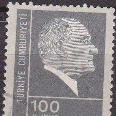 Sellos: TURQUIA 1973 SCOTT 1924 SELLO FUNDADOR Y 1º PRESIDENTE MUSTAFA KERNAL ATATURK USADO TURKIA . Lote 17749521