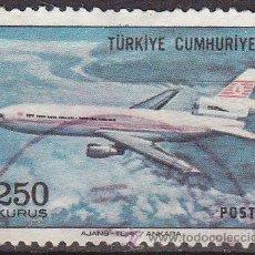 Sellos: TURQUIA 1973 SCOTT C56 SELLO AVION DC-10 USADO TURKIA . Lote 17749533