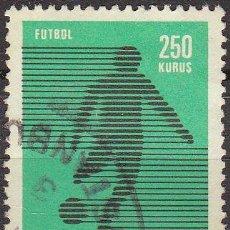 Sellos: TURQUIA 1974 SCOTT 1996 SELLO DEPORTES FUTBOL USADO TURKIA . Lote 17749542
