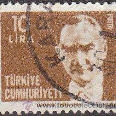 Sellos: TURQUIA 1979 SCOTT 2137A SELLO FUNDADOR Y 1º PRESIDENTE MUSTAFA KERNAL ATATURK USADO TURKIA . Lote 17749581