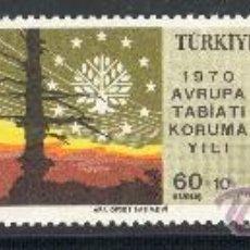 Sellos: TURQUIA AÑO 1970 YV 1933/35*** AÑO EUROPEO PARA LA PROTECCIÓN DE LA NATURALEZA ÁRBOLES AVES. Lote 22672347