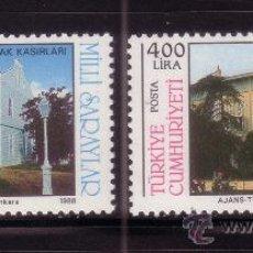 Sellos: TURQUIA 2586/87*** - AÑO 1988 - ARQUITECTURA - PALACIOS NACIONALES. Lote 35527530
