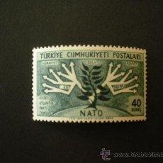 Sellos: TURQUIA 1954 IVERT 1214 *** 5º ANIVERSARIO ORGANIZACIÓN TRATADO ATLANTICO NORTE - O.T.A.N.. Lote 35963695