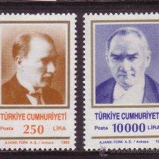 Sellos: TURQUIA 2698/99*** - AÑO 1992 - KEMAL ATATURK. Lote 36266915