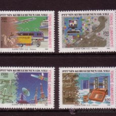 Sellos: TURQUIA 2658/61*** - AÑO 1990 - 150º ANIVERSARIO DEL CORREO TURCO. Lote 36284986