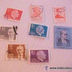 Sellos: LOTE DE 8 SELLOS DE TURQUIA . ATATURK. Lote 43220262