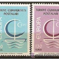 Sellos: TURQUIA YVERT NUM. 1796/1797 ** SERIE COMPLETA SIN FIJASELLOS EUROPA. Lote 49690275