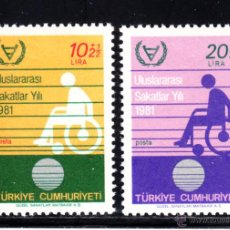 Sellos: TURQUIA 2311/12** - AÑO 1981 - AÑO INTERNACIONAL DEL MINUSVALIDO. Lote 50386253