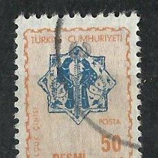 Francobolli: TURQUIA - 1967 - SCOTT O108 - USADO (SELLO OFICIAL). Lote 51081901
