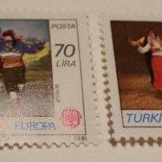Sellos: 1981, EUROPA,TURQUIA, FOLKLORE. NUEVO SIN CHARNELA.. Lote 51711234