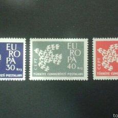 Sellos: SELLOS DE TURQUÍA. YVERT 1579/81. EUROPA CEPT. SERIE COMPLETA NUEVA.. Lote 52543691