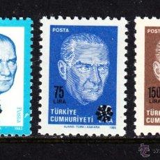 Sellos: TURQUIA 2592/94** - AÑO 1989 - ATATURK. Lote 186277120