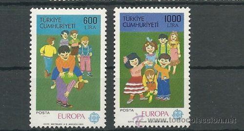 TURQUIA TEMA EUROPA 1989 SERIE LUJO NUEVO (Sellos - Extranjero - Europa - Turquía)