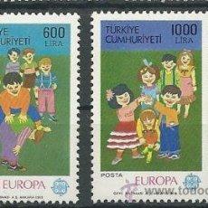 Sellos: TURQUIA TEMA EUROPA 1989 SERIE LUJO NUEVO. Lote 53051147