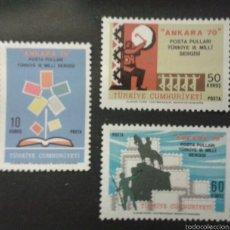 Sellos: SELLOS DE TURQUÍA. YVERT 1970/2. SERIE COMPLETA NUEVA SIN CHARNELA.. Lote 53625960