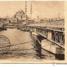 Sellos: POSTAL CIRCULADA AÑO 1911 A LA CORUÑA POSTA ITALIANA CON SOBRECARGA - MATASELLOS COSTANTINOPOLI. Lote 54045898
