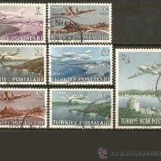 Sellos: TURQUIA CORREO AEREO YVERT NUM. 12/18 SERIE COMPLETA USADA. Lote 54397418