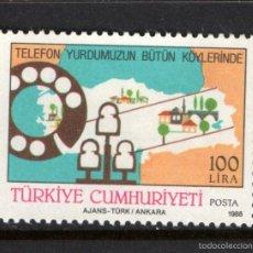 Sellos: TURQUIA 2572** - AÑO 1988 - AMPLIACION DE LINEAS TELEFONICAS. Lote 57777031