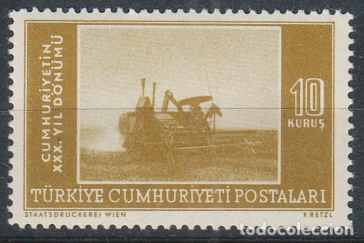 TURQUIA IVERT 1195, COSECHADORA, NUEVO *** (Sellos - Extranjero - Europa - Turquía)