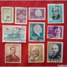 Selos: LOTE 10 SELLOS DE TURQUÍA N41. Lote 91559685