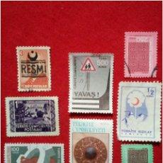 Francobolli: LOTE 8 SELLOS DE TURQUÍA N265. Lote 91660908