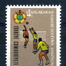 Sellos: TURQUIA 1966 - VOLLEYBALL - YVERT Nº 1777. Lote 98076407