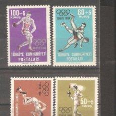 Sellos: TURQUIA,1964,CAT.YT.1704/1707.. Lote 102843391