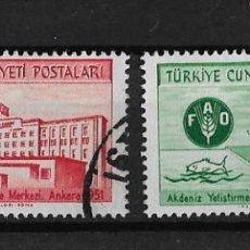 Sellos: TURQUIA 1952 CONGRESO DEL INSTITUTO DE ESTUDIOS ECONOMICOS DE LA ONU . Lote 119176587