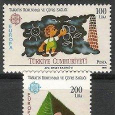 Sellos: TURQUÍA 1986 - YT 2494/5 - EUROPA CEPT - MNH**. Lote 119668611