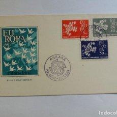 Sellos: SOBRE PRIMER DIA - FDC - TURQUIA 1961 - EUROPA CEPT . Lote 125445579
